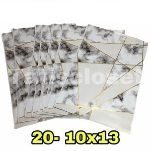 20 marble print polymailers 10x13
